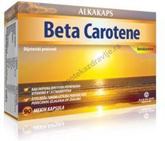 Picture of ALKAKAPS BETA CAROTEN caps. 90x2mg